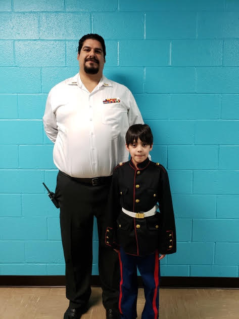 mr. garcia veteran assembly with his son