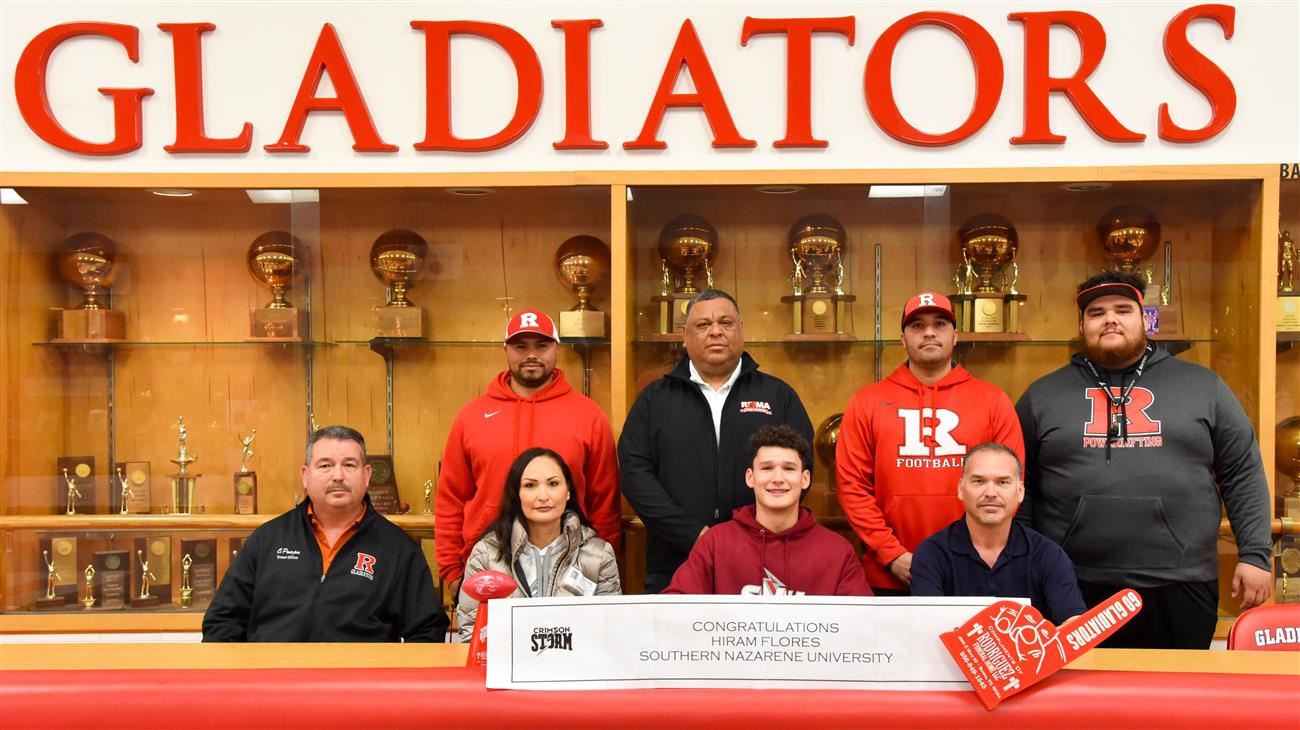 Roma High All-State Football Player Signs to Play College Ball